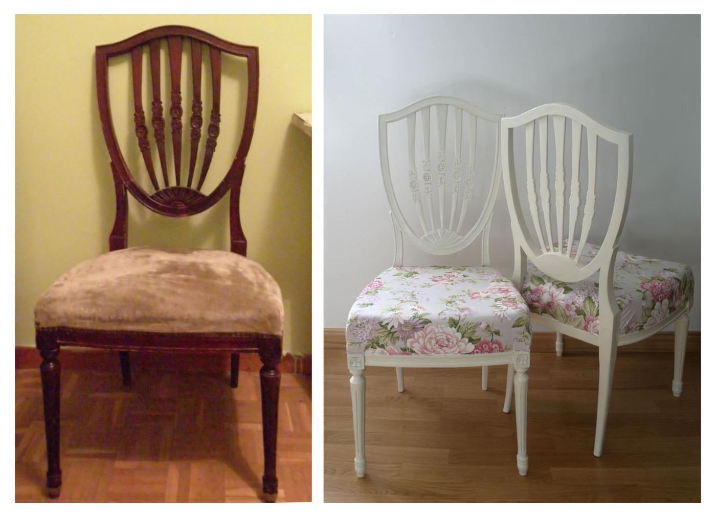 Transformaci n y recuperaci n sillas dise o polivalente - Sillas antiguas restauradas ...