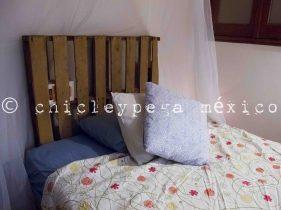 cabecera de cama con palet
